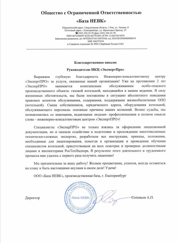 Директор Соловьев А. П.